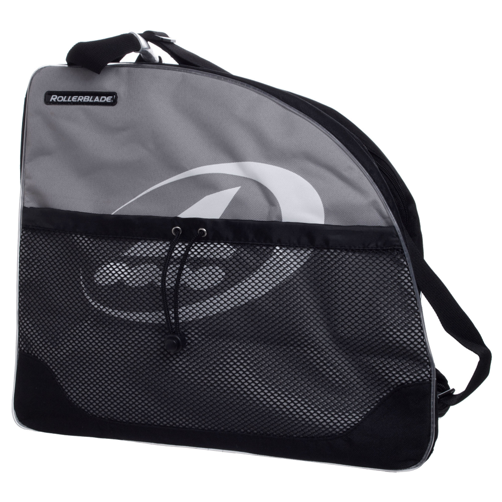 rollerblade logo skate bag 2017- Save 33% Off - The Rollerblade skate bag has double sipper openings with mesh zipper flaps for durable long lasting use.  The side mesh pocket is perfect for carrying a helmet and the internal storage pocket is great for holding pads.  2000 Cubic inches/32 Liters,  Adjustable shoulder strap,  Reinforced bottom,  Model Year: 2017, Product ID: 122010, Model Number: 8B429160 BAG, GTIN: 0008442457871