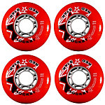 Red Star Red Rocket 84A Inline Hockey Skate Wheels - 4 Pack