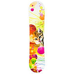 Black Fire Young Lady Cat Girls Snowboard