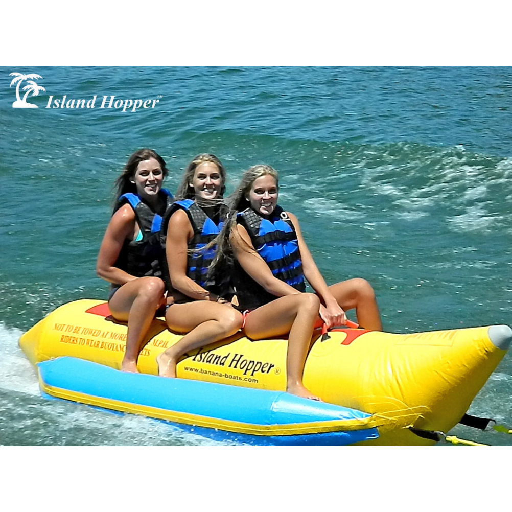 Island Hopper Recreational Banana Boat 3 Passenger Towable Tube