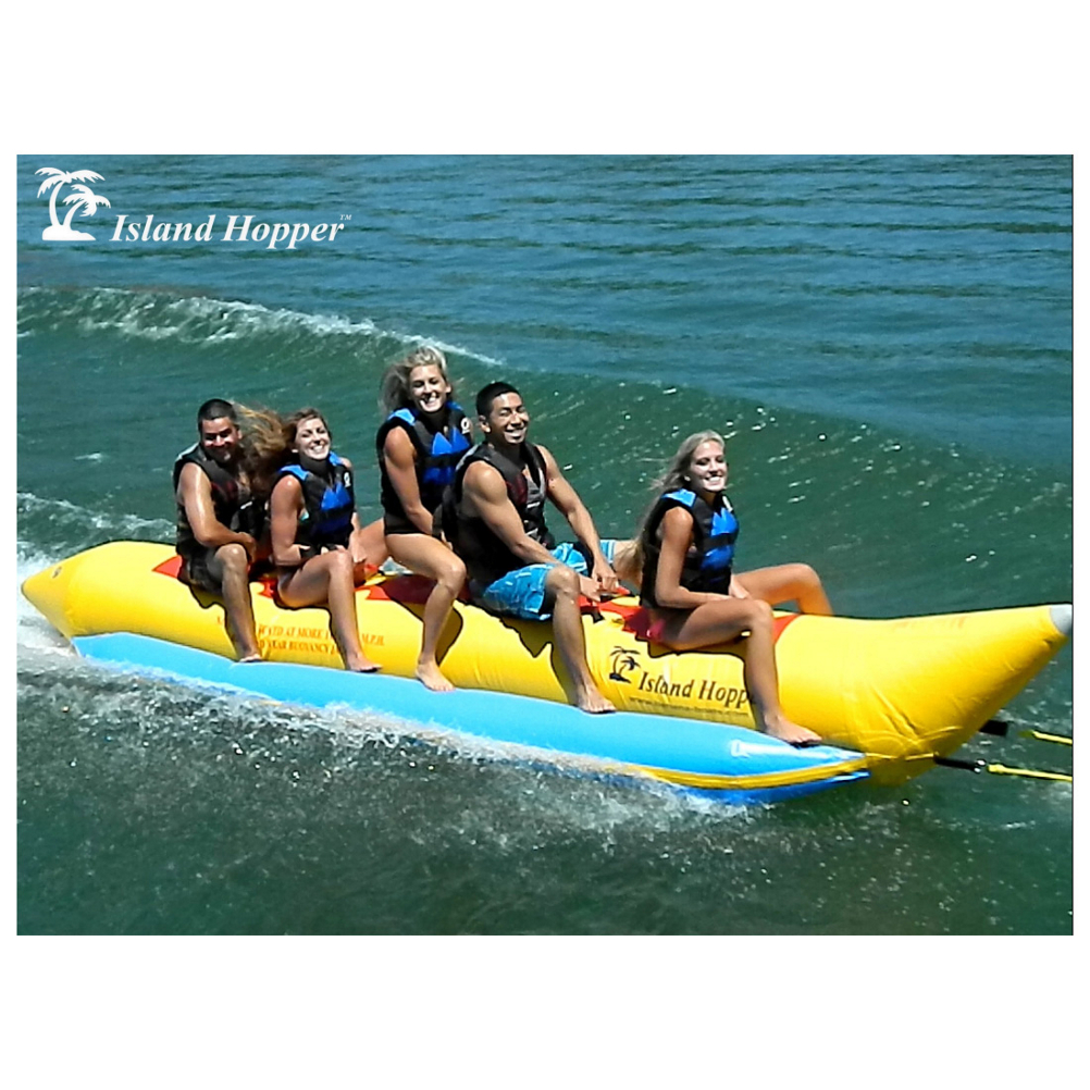 Island Hopper Recreational Banana Boat 5 Passenger Towable Tube
