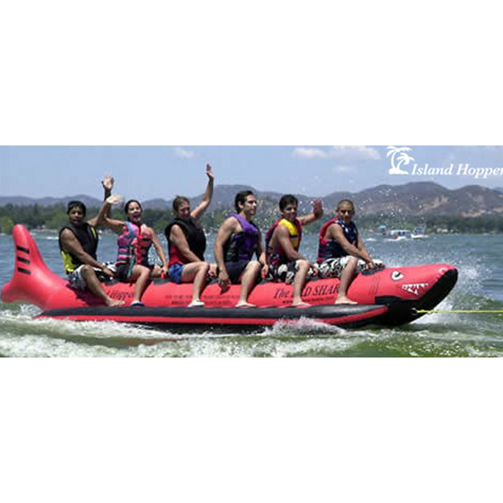 Island Hopper The Red Shark 6 Passenger Towable Tube