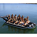 Island Hopper Whale Ride Commercial Banana Boat 10 Passenger Side-By-Side Towable Tube 2016