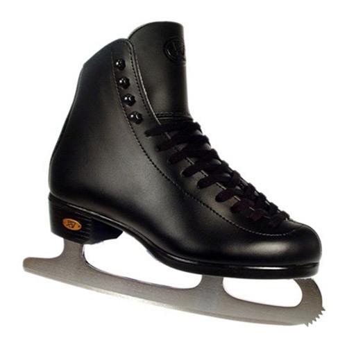 Riedell Black 15J Kids Figure Ice Skates