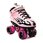 Rock Pink Flame Swirl Girls Speed Roller Skates