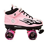 Rock Pink Flame Swirl Womens Speed Roller Skates