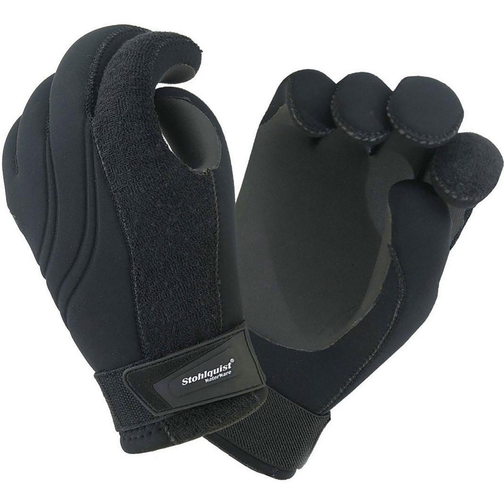 stohlquist maw paddling gloves- Save 53% Off - Designed to be a precise paddling glove, the MAW from Stohlquist is made with flexible 4-way stretch neoprene.  The 1-1/8 diameter finger pre-curve will eliminate gripping fatigue; while added grip on the palm and fingers provides a great feel and unmatched paddle control. The seams on this glove are strategically placed to eliminate pressure point irritation on your hands. It also features glued and blind-stitched seams to protect you from chilly water temperatures.  1-1/8 diameter finger pre-curve eliminates gripping fatigue,  Grippy palm and finger surfaces provide better paddle control and feel,  Protective, warm and soft to the touch,  Displaced seams eliminate irritation and pressure points,  Absorbent terry cloth fabric on back of index finger for brow-wiping,  Adjustable wrist closure secures glove in place,  Glued and blind-stitched seams keep water out,  O-ring seal at entry,  Model Year: 2013, Product ID: 220879, Model Number: 556405, GTIN: 0053242204897