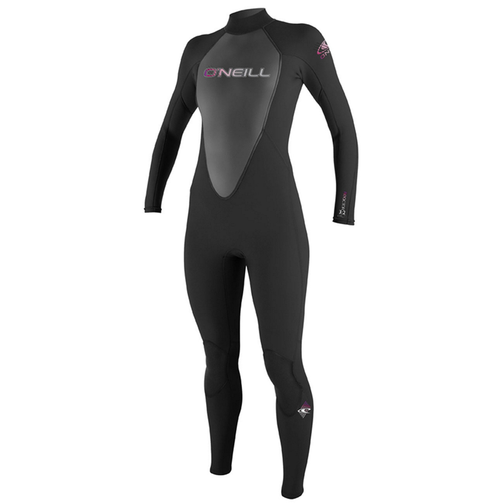 o'neill reactor 3/2 womens full wetsuit 2017- Save 26% Off - The O'Neill Reactor Series is a highly functional warm water series. Get a full dose of performance technology at an incredible value. The Reactor Series utilizes O'Neill's exclusive FluidFlex in the shoulder and sleeves, a fully adjustable double super seal neck, and Krypto Knee Padz. The Reactor also features a hidden key pocket so that you can keep your keys safely secured while out on the water.  Krypto Knee Padz,  Single Super Seal Neck,  30% FluidFlex,  Hidden Key Pocket,  Strategic Seamless Paddle Zones,  Model Year: 2017, Product ID: 221601, Shipping Restriction: This item is not available for shipment outside of the United States., Model Number: 3800 A05 6, GTIN: 0603731899389, Seam Construction: Flatloc Stitched, Thickness: 3/2mm, Style: Long Arm Full