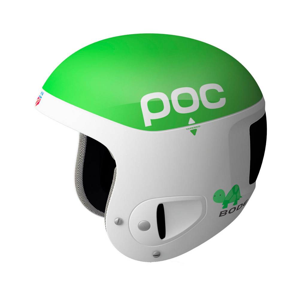 poc skull comp 2.0 bode helmet- Save 80% Off - The Skull Comp 2.0 Bode is the ultimate race helmet complete with Bode's graphic, upgraded by adding a new safety feature. After finding that repeated impact with gates can deform the inner liner without showing on the outer shell the core material was changed to multi Impact EPP. As these impacts can compromise the effectiveness of the liner, but not show, the switch to EPP was necessary to guarantee that the helmet can function properly even after hard gate hits. On top of the liner a thin Aramid membrane penetration barrier makes sure nothing can puncture through the shell without compromising the cushioning characteristics of the shell. To optimize energy absorption Supracor, pneumatic honeycomb pads of polyurethane, are inserted into the EPP multi impact liner so if catastrophic fall were to happen any potential damage to the helmet is reduced.  The bottom line is the Skull Comp 2.0 will offer a great fit and high level performance protection over and over again. So get out there and charge your way to the top.  LD Foam Lining - Comfortable Foam Padding That Can Be Changed And Cleaned Easily,  Injected PC/ABS Shell - Allows For Tapering And Zoning For Best Strength To Weight Ratio,  Supracor - Honeycomb Sandwich Integrated Into The Helmet Core For Progressive Energy Absorption,  Aramid Membrane - Between The Shell And EPP Core Prevents Penetration,  EPP Core - Optimized To Work With Supracor Allows For Multi Impact Performance,  Compatible with POC Slalom Chin Guard Only,  Certifications: EN 1077 - Class A, Warranty: One Year, Gender: Mens, Race: Yes, Category: Race, Audio: Not Compatible, Brim/Visor: No, Ventilation: Fixed, Adjustability: None, Year Round Capable: No, Shell Construction: Hybrid, Model Year: 2012, Product ID: 243216, Model Number: 10450 102 M/L, GTIN: 7332522272010