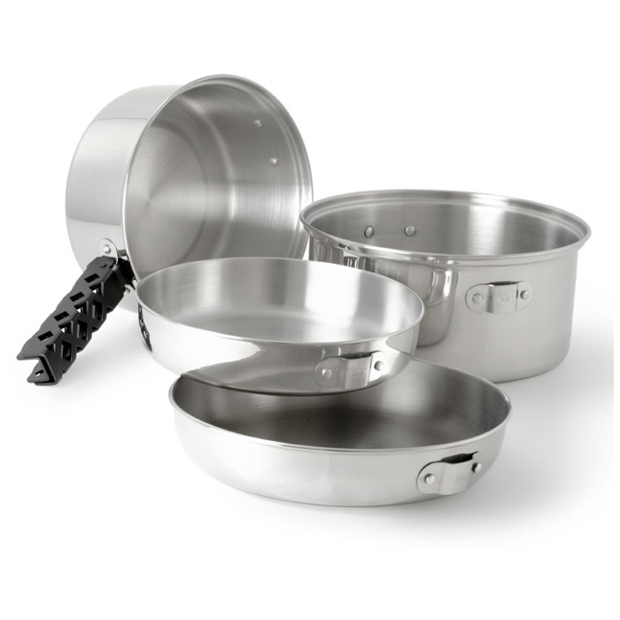 GSI Outdoors Glacier Stainless Cookset