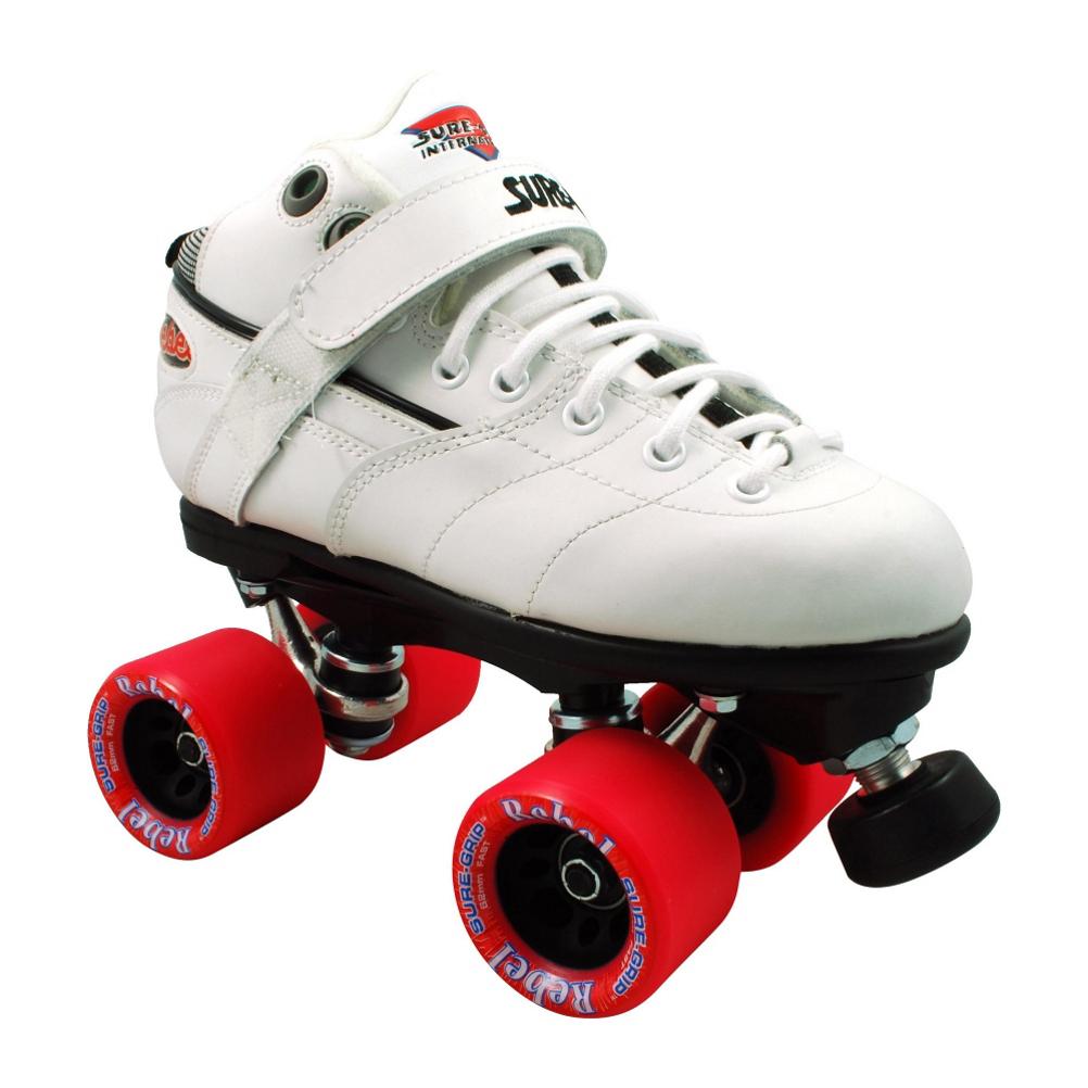 Sure Grip International Rebel White Speed Roller Skates 2017