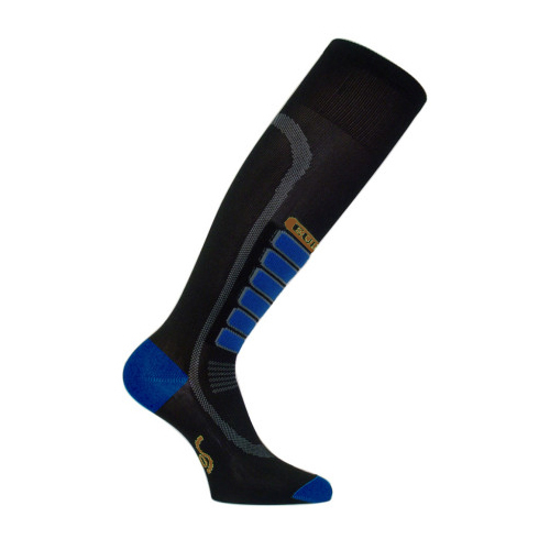 euro sock compression ski socks- Save 20% Off - The Euro Sock Ski Compression ski socks is the basic gradual compression sock that is particularly customized for skiing because it is equipped with an efficient smooth, long-lasting, cushioning shin guard protection. Thanks to the Silver Drystat properties warmth, breathability and comfort are assured. Highly functional and practical, this sock is available in a varitey of colors at affordable prices. Gradual compression will help stimulate blood flow and improves oxygen delivery to muscles and will reduce foot and leg swelling. The Ski Compression socks are proven to provide relief for cramping and will boost your performance. These socks will also provide you with superior fit and comfort and have been tested and proved by World Class athletes.  Low Density Padding,  Ankle and Arch Support,  Terry Support,  Flat Knit,  Extra Smooth Toe Seam,  Low Density Padding Sole,  Proven Cramp Relief,  Gradual Compression to Stimulate Blood Flow,  Improves Oxygen Delivery to Muscles,  Reduces Foot and Leg Swelling,  GTIN: 0802433041250, Model Number: 03411 BLK M, Product ID: 275648, Weight: Light, Type: Ski, Material: Synthetic, Warranty: Other