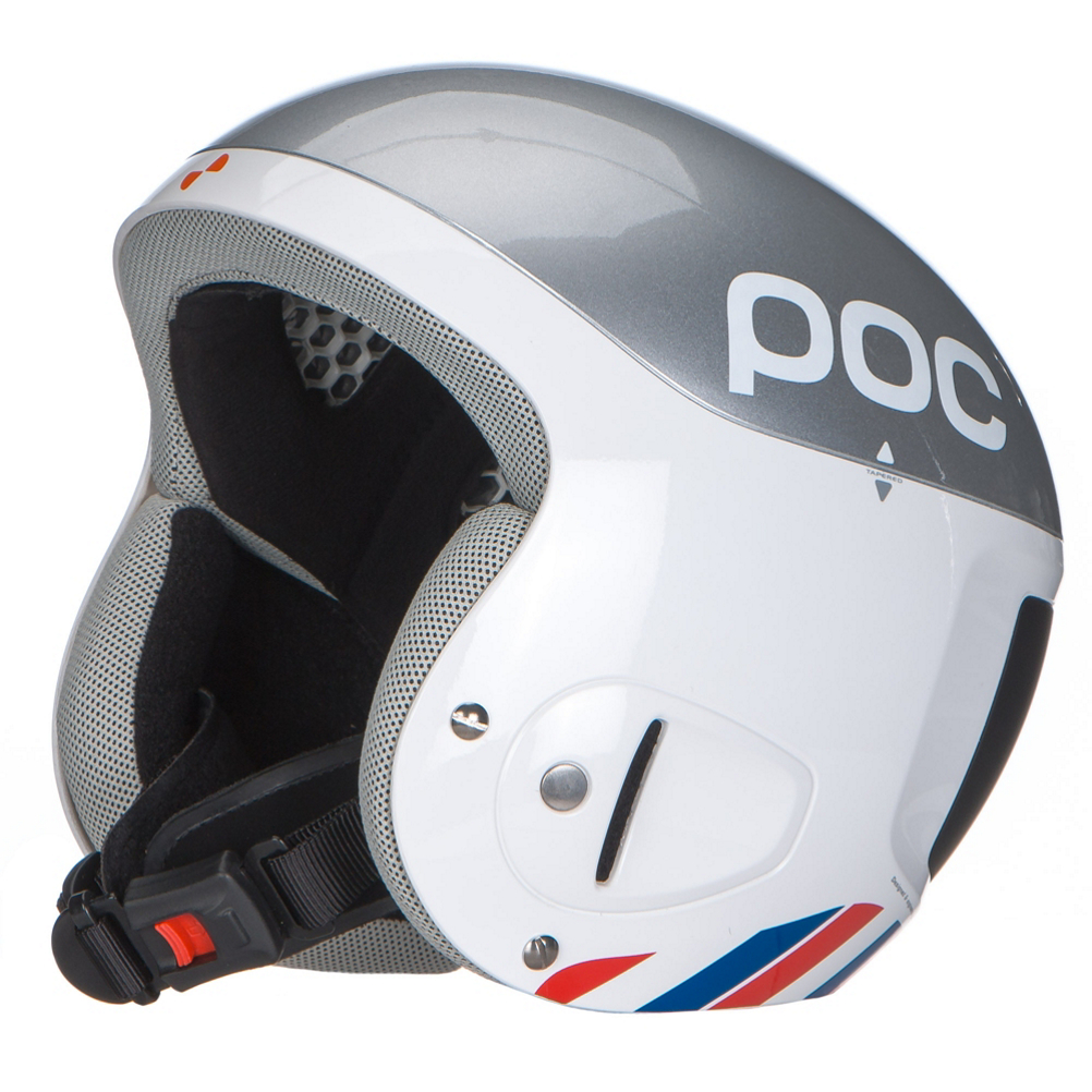 poc skull comp 2.0 bode miller edition helmet- Save 69% Off - The Skull Comp 2.0 Bode Miller edition is the ultimate race helmet, with ultimate style. After finding that repeated impact with gates can deform the inner liner without showing on the outer shell the core material was changed to multi Impact EPP. As these impacts can compromise the effectiveness of the liner, but not show, the switch to EPP was necessary to guarantee that the helmet can function properly even after hard gate hits. On top of the liner a thin Aramid membrane penetration barrier makes sure nothing can puncture through the shell without compromising the cushioning characteristics of the shell. To optimize energy absorption Supracor, pneumatic honeycomb pads of polyurethane, are inserted into the EPP multi impact liner so if catastrophic fall were to happen any potential damage to the helmet is reduced greatly. The bottom line is the Skull Comp 2.0 Bode Miller edition will offer a great fit and high performance protection over and over again. Plus with the Bode Miller edition paint job you will at least look like the fastest person on the mountain.  LD Foam Lining - Comfortable Foam Padding That Can Be Changed And Cleaned Easily,  Injected PC/ABS Shell - Allows For Tapering And Zoning For Best Strength To Weight Ratio,  Supracor - Honeycomb Sandwich Integrated Into The Helmet Core For Progressive Energy Absorption,  Aramid Membrane - Between The Shell And EPP Core Prevents Penetration,  EPP Core - Optimized To Work With Supracor Allows For Multi Impact Performance,  Compatible with the POC Slalom Chin Guard Only,  Certifications: EN 1077-A, Warranty: One Year, Gender: Mens, Race: Yes, Category: Race, Audio: Not Compatible, Brim/Visor: No, Ventilation: Fixed, Adjustability: None, Year Round Capable: No, Shell Construction: Hybrid, Model Year: 2015, Product ID: 284657, Model Number: 10451 211 ML, GTIN: 7332522438003
