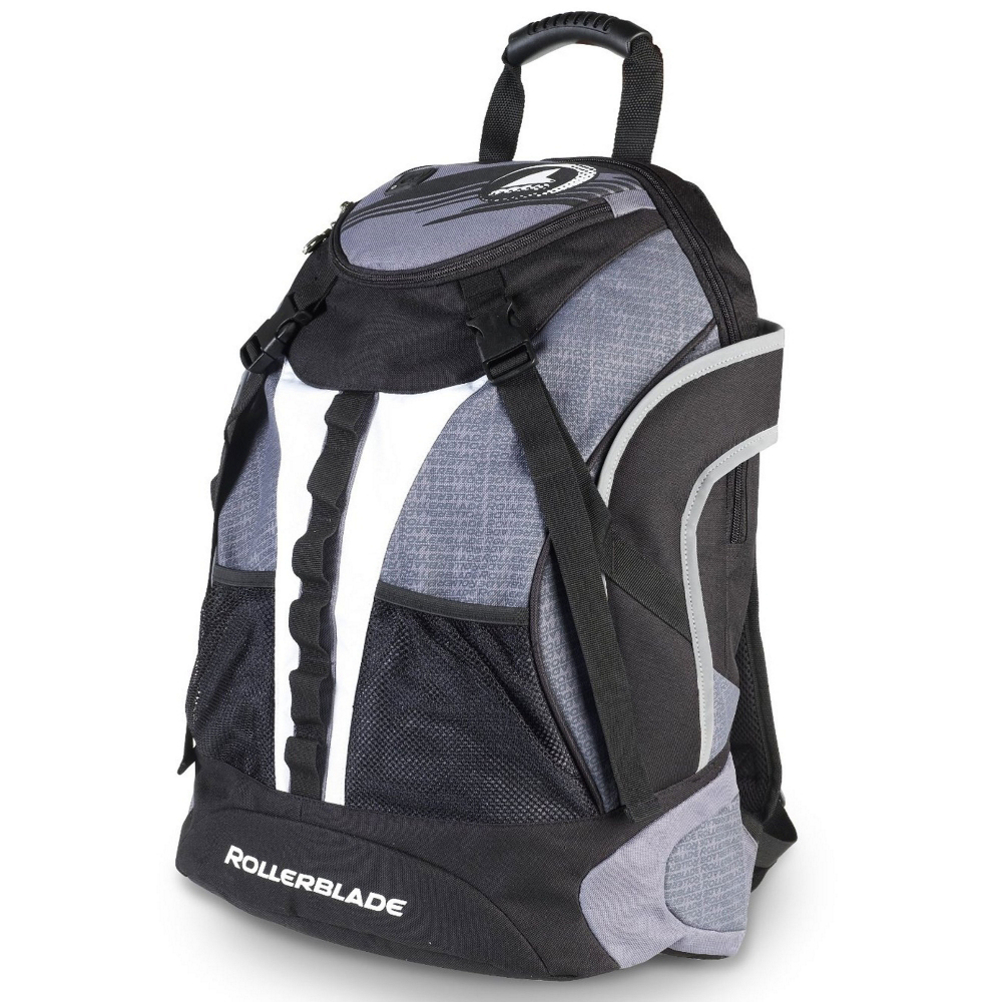 rollerblade quantum skate backpack- Save 40% Off - Carry your skates and gear in style with a Rollerblade Quantum Skate Backpack.  Utilizing an External Skate Carrier System you'll have your skates on the outside leaving great amounts of room on the inside for pads, helmet or even books.  There's an internal notebook pocket, 2 cell phone/MP3 pockets and 2 external mesh pockets.  All this stuff seems heavy but carrying it all won't break your back.  You'll have the help of an Aeromesh Padded Backstay, Shoulder Straps and a Sternum Strap to to balance out the weight.  This isn't any ordinary backpack, this was designed for the comfort and convenience of hauling skates, gear and more by a company that knows their inline skates.  This is the Rollerblade Quantum Skate Backpack.  Aeromesh Padded Backstay,  Shoulder Straps and Sternum Strap,  Two Cell Phone/MP3 Pockets,  External Mesh Pocket,  Internal Pocket with Keyring Clip,  Padded Internal Notebook Pocket with Padded Base,  Reflective Piping and Logo,  GTIN: 0885315536457, Model Number: 06R21600 001, Product ID: 291537, Model Year: 2016