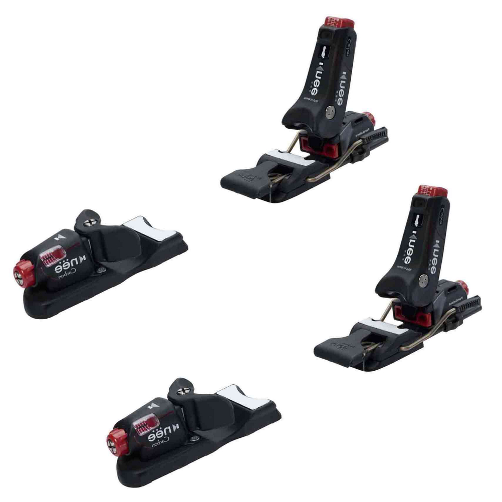 knee binding carbon wide brake ski bindings 2017- Save 13% Off - The Knee Carbon is very popular with skiers that have had, or are trying to prevent knee injuries.  Unlike any other binding on the market the Knee Carbon has three different area of release.  The Pure Lateral heel can release your boots during a nasty spill forward, twisting, and rearward twisting.  Your boots can release totally sideways if you need it too.  The free-flex mounting allows your skis to flex evenly, and will not sacrifice any performance on the mountain.  Knee's Lever Edge Technology is the so wide that it covers the full width of your boot sole that improves you leverage to turn your skis and edge grip on the snow.  If you have had or are looking to prevent any knee injuries the Knee Carbon has every advantage for you in a lightweight package.  Save your knees today.  Pure Lateral Heel,  Flex Float Mounting,  Lever Edge Technology,  Fore-Aft Balancing,  Made in the USA!,  GTIN: 0736211766717, Model Number: CARBON 90, Product ID: 293442, Model Year: 2017, Skill Range: Advanced Intermediate - Expert, Ski Gear Intended Use: All Mountain, Actual Din Range: 3-12, Category: Downhill, Race: No, Recommended Weight Range: 65+ lbs., Binding Weight: 4.5 lbs., Max Din Setting: 3-12, Gender: Mens, Warranty: One Year