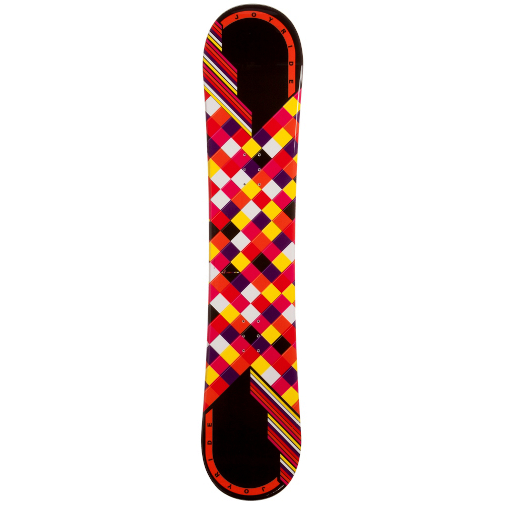 joyride checkers black rocker womens snowboard- Save 54% Off - The JoyRide Checkers Black Rocker Snowboard is a fun and forgiving entry-level board for you to learn and excel on.  This snowboard has a Rocker profile so you will have plenty of forgiveness and playfulness so you can learn how to maneuver the mountain confidently.  You'll also be able to glide a little through the powder and have plenty of float so you can move with ease. If you're looking for a good board and you're tired of wasting the money renting then check out the JoyRide Checkers Black Rocker Snowboard.  Snowboard Best Use: All-Mountain, Rocker Profile: Rocker, Shape: Directional, Flex: Soft, Pipe Oriented: No, Board Width: Regular, Core Material: Wood, Hole Pattern: Standard 4 Hole, Magnatraction: No, Skill Range: Beginner - Advanced Intermediate, Product ID: 297063, Gender: Womens, Skill Level: Beginner, Model Number: 589 SB 12, Warranty: One Year, Base Material: Extruded P-tex, Construction Type: Cap Construction