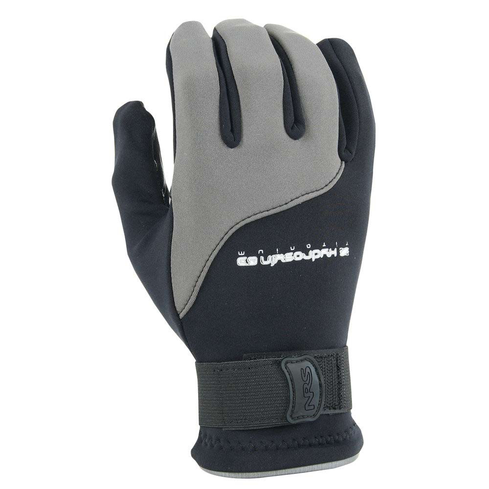 nrs hydroskin paddling gloves- Save 19% Off - The NRS HydroSkin Paddling Gloves will cut the chill without sacrificing grip or feel. Having less bulk gives you total comfort, just enough for extra warmth. The Hydroskin Gloves are great for those in-between-weather paddles, or when the air is warm but the water is cold. The neoprene core layer insulates and protects as the PowerSpan exterior stretches in four directions, allowing unrestricted use of your hands allowing you to stay securely in charge. The ThermalPlush inner lining increases insulation, repels moisture and dries quickly for added comfort and protection. The water-repellent coating helps The Hydroskin Gloves shed water while reducing evaporative cooling. Stay dry, enjoy complete comfort and looks great, The Hydroskin Gloves will stand up to your water challenges.  Adjustable hook-and-loop strap secures the glove at the wrist,  Titanium laminate adhesive reflects heat back in toward your hands,  Water-repellent coating helps the gloves shed water,  0.5-mm Terraprene neoprene,  4-way stretch PowerSpan outer layer,  ThermalPlush inner lining,  Titanium laminate adhesive,  DWR coating,  Single needle with high tenacity thread,  GripCote texture,  Adjustable hook-and-loop strap,  Model Number: 25014.01.105, GTIN: 0603403240600, Model Year: 2014, Product ID: 309997