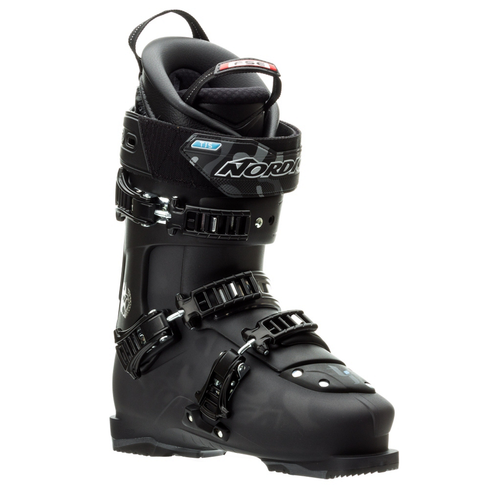 nordica tjs pro ski boots- Save 53% Off - The Nordica TJS Pro is the ski boot of choice for the high flying pro TJ Schiller.  The Full Shock Eraser Liner (FSE) has the most advanced vibration dampening system available for any ski boot.  The Bootboard, tongue, Calves, and shin have of extra cushion to absorb the massive impacts from big landings in the park or pipe.  The 45 Degree Instep Buckle will keep your foot locked down to give you power and control with every turn.  High Traction Soles make your hike back up to the top of the pipe easier.  The 98 mm last has the same fit as most high powered race boots, but with a freeride shape, and progressive flex.  The 130 flex gets stiffer and stiffer the more you flex it, and it will give you the support that you need for sticking off axis landings.  If you are looking for a park boot that best fits a narrow forefoot and narrow shaft of the leg that has maximum dampening ability, the Nordica TJS Pro steps up to the plate.  FSE (Full Shock Eraser),  45 Degree Instep Retention,  High Traction Rubber Toes and Heels,  Best Fits a Narrow Forefoot and Narrow Shaft of the Leg,  Actual Flex: 130, Cuff Alignment: Dual, Warranty: One Year, Ski Boot Width: Medium (100-103mm), Flex: Very Stiff, Used: No, Ski/Walk: No, Forefoot Width: 100mm at Reference Size 26.5, Flex Adjustment: No, Buckle Count: 3, Category: Freestyle, Ski Gear Intended Use: Freestyle, Instep Height: Medium, Calf Volume: Medium, Skill Range: Expert - Pro, Model Year: 2015, Product ID: 315090, Model Number: 05004500576265, GTIN: 0885315662569