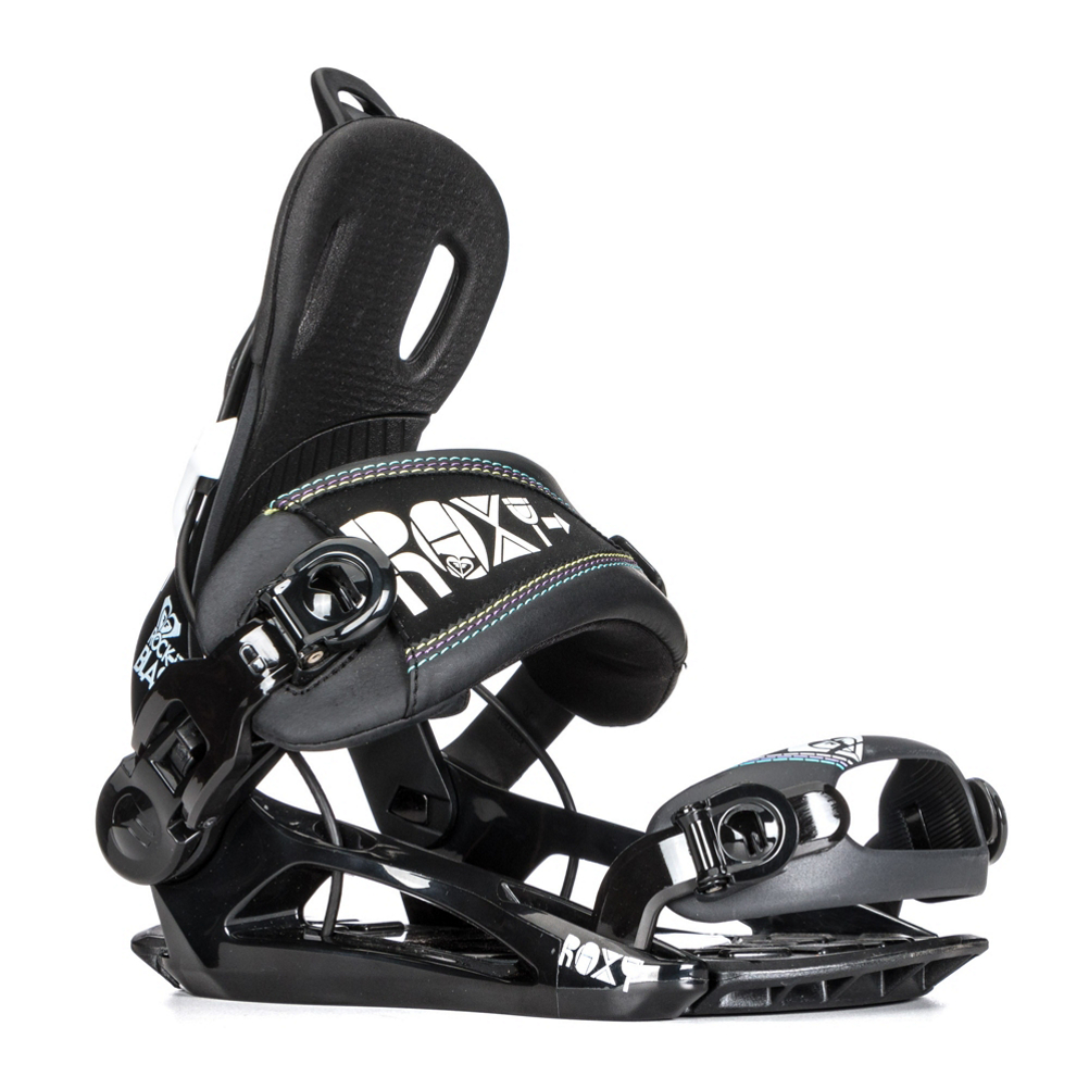 roxy rock-it blast womens snowboard bindings- Save 39% Off - Get in and out of bindings quickly and ride comfortably with the Roxy Rock-It Blast Snowboard Bindings.  One of the best features of this Rock-It Bindings are the Chair Lift Relief Control which adds comfort riding up to the top of the trail which easier.  More comfort and better circulation will help keep your feet warm so you can ride happier.  The 3D Straps are super easy to use and provide comfort while the Minimalist Slim Fit Toe Strap is form fitting and lightweight.  The Auto Lever is a great feature that automatically opens when you release the highback so sliding in and out of the binding is way easier than before.  When you're coming off those big landings, you'll be greeted with TPU Shock Pads which help absorb the impact.  With its medium flex, you can take these Roxy Rock-It Blast Snowboards Bindings just about anywhere you choose.  To the park, back to the frontside, the mountain is your playground.  TPU Shock Pads,  Auto Lever,  Chair Lift Relief Control,  Full Wrap EVA,  Five-Position Forward Lean,  Snowboard Best Use: All-Mountain, Strap Material: Symmetric Slim Fit, This is a Blemish Item: This blemish/factory second item is new and may have a cosmetic imperfection such as a scuff or scratch. The blemish is guaranteed to be minor & non-structural. Most blemishes are so minor; they are not noticeable even when looking for the imperfection., Buckles: Microbuckle Ratchet, Toe Strap Style: Cap, Quick Entry: No, Canted Footbed: No, Binding Compatibility: Burton 3D, Gender: Womens, Skill Level: Intermediate, HighBack: RX S1 Highback, GTIN: 0606853900308, Model Number: 12BN024 BK, Shipping Restriction: This item is not available for shipment outside of the United States., Product ID: 327610, Model Year: 2013, Skill Range: Intermediate - Advanced, Chassis Material: Nylon, Warranty: One Year, Flex: Medium