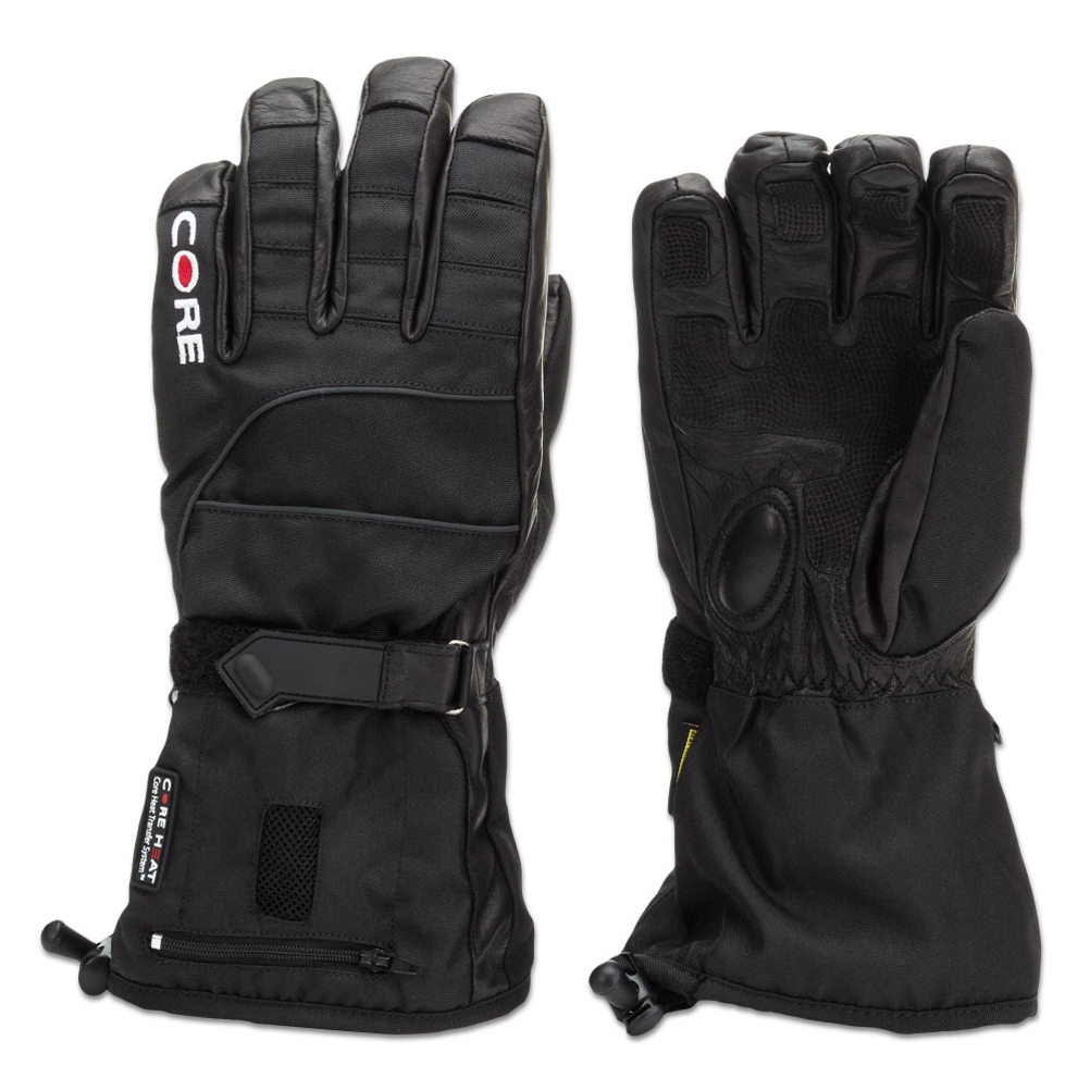 gerbing coreheat snow 2 glove mens heated gloves and mittens- Save 33% Off - Keep your hands toasty warm in the Gerbing Coreheat Snow 2 Gloves for Men.  These cozy gloves guard you from the bitter cold winter months with an added heat factor that radiates from a battery that is inserted in the top of your glove.  The Gerbing Coreheat Snow 2 Gloves feature a rechargeable lithium battery powered heating system that is lightweight, and strategically designed to give you the most heat where you need it most.  Be able to withstand the harshest of cold temps and maintain your warmth - so nothing will stop you from practicing your sport.  Rechargeable lithium battery with microprocessor controlled technology,  Digital leather palm for better grip,  Waterproof, breathable membrane,  Thinsulate insulation for added warmth and dexterity,  Adjustable wrist enclosure and zip-cinch cuff,  Rechargeable Battery,  We Recommend you Hand Wash and Hang Dry Product,  Model Year: 2014, Product ID: 340922, Model Number: GLCHS2MB-S, GTIN: 0875166002393, Glove/Mitten Insulation: Heated, Glove Weather Condition: Frigid, Glove Quality: Better, Touch Screen Capable: No, Down Filled: No, Cuff Style: Over the cuff, Breathable: Yes, Waterproof: Yes, Glove Outer Fabric: Synthetic, Wristguards: No, Use: Ski/Snowboard, Type: Glove, Race: No, Battery Heated: No, Warranty: Lifetime, Material: Nylon, Removable Liner: No
