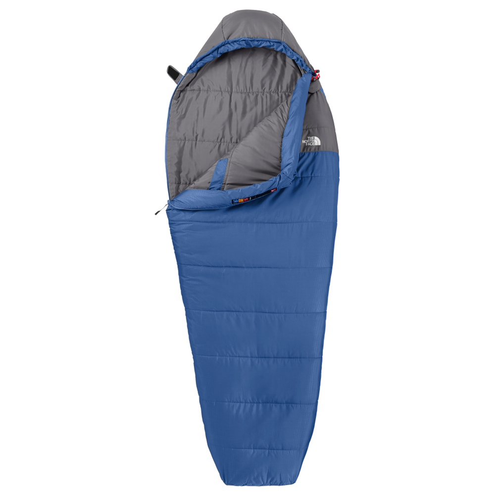 the north face aleutian 20 long sleeping bag- Save 7.% Off - Part of the Trailhead Series, the North Face Aleutian 20 Long Sleeping Bag is a synthetic bag built with the insulation and materials needed to help get you through a below freezing night.  The main feature of this sleeping bag is its Heatseeker Eco Synthetic Insulation which provides you with high-quality warmth.  You'll have a draft collar to help prevent any of the cold air trying to sneak in.  The mummy shape and wraparound zipper provide you with comfy and cozy warmth or a bag that can lie flat for the feeling of a blanket like you were sleeping in your own bed.  When it comes to carrying the North Face Aleutian 20 Long Sleeping Bag, you'll be happy to know that it comes in under 4 pounds so you'll barely notice it on your back.  Draft Collar,  Heatseeker Eco Synthetic Insulation,  Right Hand - Zipper Located on Left Side,  Left Hand - Zipper Located on Right Side,  Both Images Pictured Show Zipper on Right Side,  Model Year: 2016, Product ID: 343068, Shipping Restriction: This item is not available for shipment outside of the United States., Model Number: NF00A3A0M8R-LNG-LH, GTIN: 0715752283792, Stuff Sack Size: 10 x 19in, Fits up to: 6ft 6in, Weight (lbs): 4.00 to 5.99, Weight: 4lbs, Actual Temperature Rating: 20 degrees, Comfort Temperature: 46 degrees, Lower Temperature Limit: 38 degrees, Zipper Side: Right Hand, Insulation Type: Synthetic, Size: 84 in, Shape: Mummy, Temperature Rating: 15 to 29 Degrees