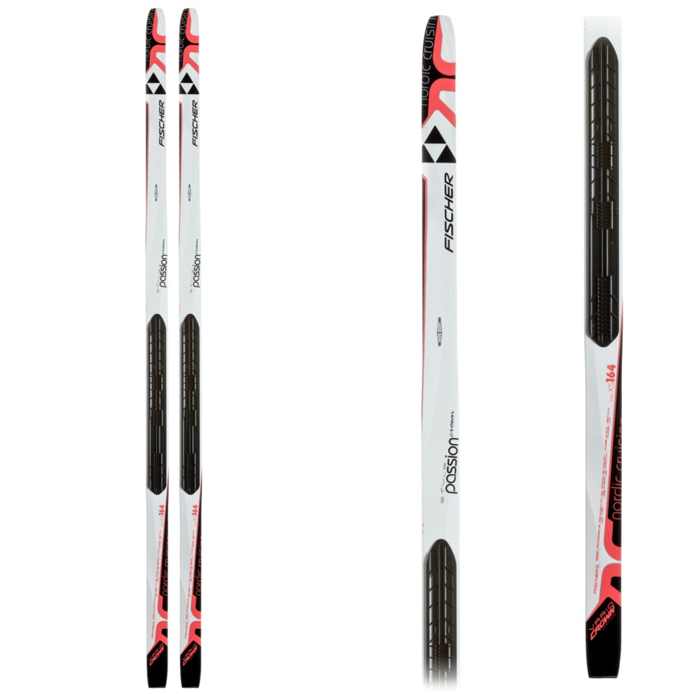 fischer passion my style cross country skis- Save 44% Off - The Fischer Passion My Style is a great ski for the ladies who are looking to start to ski on the freshly groomed tracks.  The Wide Body Construction gives you a wide and stable platform to give you the best balance and traction on the trail.  Fischer's Air Channel Core is lightweight and easy to maneuver.  The Vario Crown Base has great grip and gliding properties for you to start cross country skiing.  The Passion My Style has an NIS (Nordic Integrated System) Plate that requires an NIS Binding (sold separately) and NNN XC Boot.  This Ski Requires an NIS Binding,  less than 121lbs - 164cm,  169cm-122-153 lbs.,  174cm-154-174 lbs.,  Core Name: Air Channel, Warranty: One Year, What Binding is Included?: NONE, Bindings Included: No, XC Ski Best Use: Groomed, Binding Option: NIS, Non NIS Skis: No, Waxless Base: Yes, Metal Edges: No, Ski Dimensions: 50/55/50, Ski Gear Intended Use: Cross Country, Shape: Reverse Side Cut, Skill Range: Beginner - Advanced Intermediate, Model Year: 2016, Product ID: 363971, Model Number: N38114-1XS, GTIN: 9002971725723