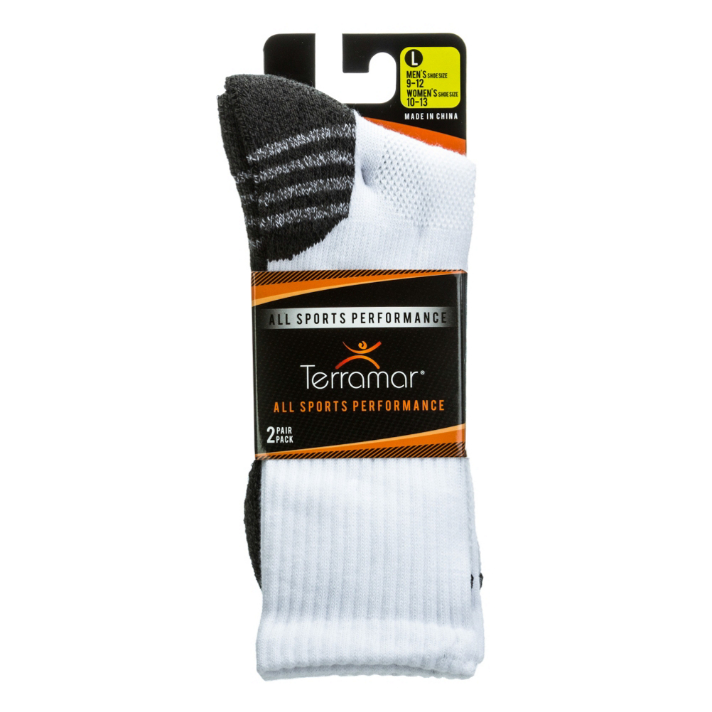 Terramar ASP CoolMax Mens Crew Socks 2 Pack