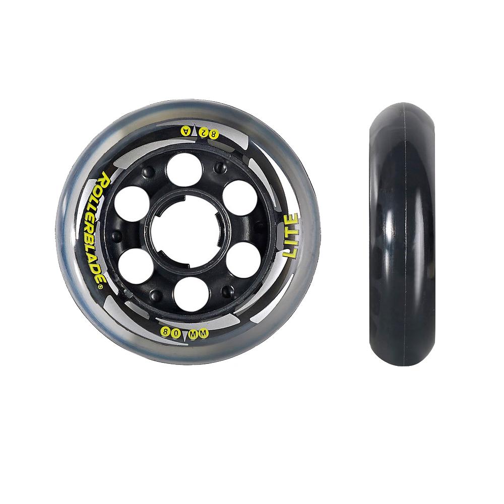 Rollerblade Performance 80mm-82A Inline Skate Wheels - 8pack 2018