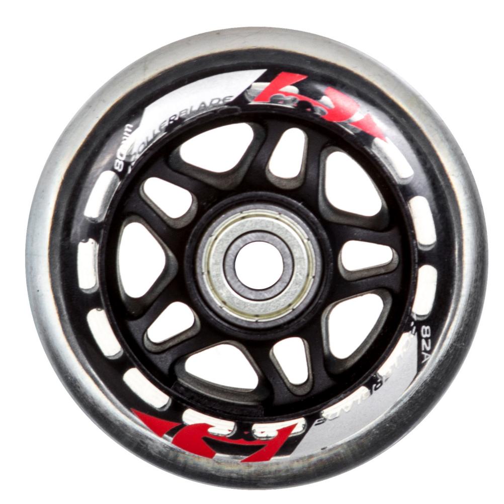 Rollerblade 80mm-82A Inline Skate Wheels with SG7 Bearings - 8pack 2019