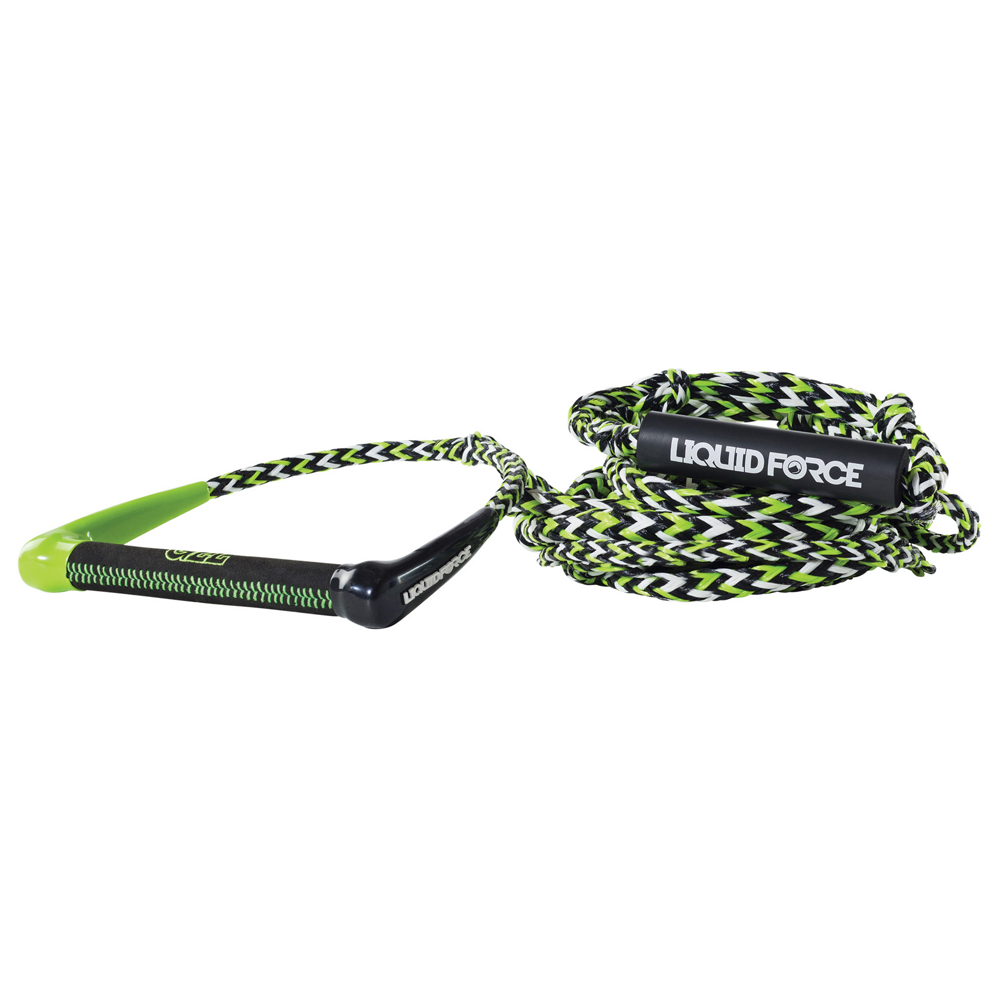 liquid force chase pro wakesurf rope 2017- Save 15% Off - The Liquid Force Chase Pro Wakesurf Rope is an all-performance rope and handle with an eleven inch grip so you can launch two-handed.  The grip is Ultra Gel which is plush and grippy so your hands will be comfortable.  The 5/8 inch PE Fiber Line is very durable and resists fading.  The foam handle is also buoyant so you won't lose the Liquid Force Chase Pro Wakesurf Rope if you drop it.  9in Round Ultra GEL Suede Grip with Extra Plush Padding,  Easy Length Adjuster Rope Sections on boat end,  24 Foot Braided PE Line 3 Sections,  5/8in PE Fiber Line,  GTIN: 0013576033426, Model Number: 2155519, Product ID: 382079, Model Year: 2017, Material: Composite, Type: Wakesurf