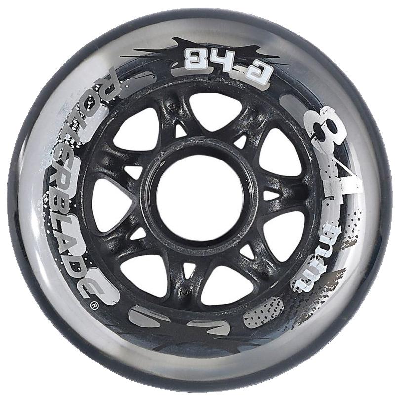 Rollerblade Performance 84mm/84A Inline Skate Wheels - 8pack