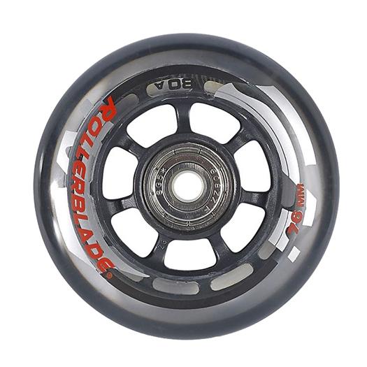 Rollerblade Wheel Kit 76mm/80A Inline Skate Wheels with SG5 Bearings - 8pack 2018