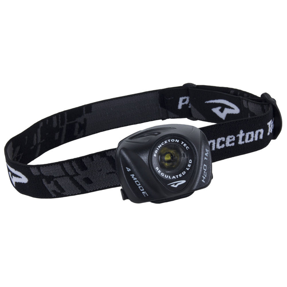princeton tec eos headlamp- Save 18% Off - The Princeton Tec EOS is a LED headlamp with 3 brightness levels and an emergency flash mode which runs on 3 AAA batteries and utilizes a current regulator circuit for all modes of operation. It is water resistant to 1 meter and uses an adjustable elastic strap and pivoting headplate for ease of use and comfort. Princeton Tec designed optimized lens/collimator maximizes the beam by balancing long throw with floodlight. See the world in all new ways with Princeton Tec EOS headlamp.  4 output modes (high, medium, low, and flash) allow the EOS to keep its regulated brightness while the batteries remain at optimum levels,  IPX7 rating is waterproof for 30 minutes at a depth of 1 meter,  Bulb Type: LED, Max Light Output: 105 Lumens, Light Output Range: High: 105; medium: 55; low: 15; flash: 105 lumens, Beam Type: Spot, Max Beam Distance: 60 meters, Beam Distance Range: High: 60; medium: 45; low: 15; flash: 60 meters, Brightness Levels: 3, Strobes: Yes, Red Light Mode: No, Average Run Time: High: 113; medium: 115; low: 121; flash: 116 hours, Regulated Output: Yes, Batteries: 3 AAA, Weight With Batteries: 3.7 oz, Model Year: 2015, Product ID: 385271, Model Number: EOS105-BK, Use: Both Camping and Casual Use, Water Resistant: Yes, Rechargeable: No