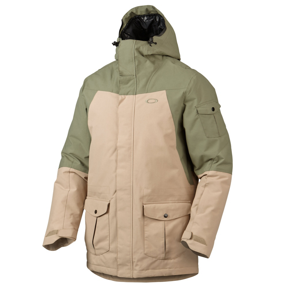 oakley b52 down mens insulated snowboard jacket- Save 55% Off - Whether you plan on traveling to Antarctica or you just want an extremely warm jacket, the Oakley B-52 Down Jacket is the perfect choice.  550 Down Fill matched with critically taped seams traps in the warmth without outside elements inferring.  Keeping you dry is the Hydrogauge 15 laminate, which offers 15,000mm of waterproofing and 10,000g of breathability. A removable storm skirt and wrist gaiters facilitate a secure fit, while plenty of specialized zip and flap pockets supply worry-free storage of your essential items. Microclear 2.0 cloth in lens pocket keeps eyewear free of moisture and condensation.  Let everyone else around you complain about the cold while you stay warm with the Oakley B-52 Down Jacket.  Hydrogauge 15 laminate and down 500 fill deliver lightweight protection from the cold and elements,  Underarm venting with mesh insets enhance comfort and temperature regulation,  OOR hood, drop tail and cuffs offer coverage and a customized fit,  Removable snap storm skirt with Lycra allows for easy integration with snow pants,  Microclear 2.0 cloth in lens pocket keeps eyewear free of moisture and condensation,  Parka fit,  Exterior Material: Hydrogauge 15 Nylon, Insulation Weight: 550 Down Fill, Taped Seams: Critically Taped, Waterproof Rating: 15,000mm, Breathability Rating: 10,000g, Hood Type: Fixed, Pit Zip Venting: Yes, Powder Skirt: Yes, Warranty: 30 Days, Battery Heated: No, Race: No, Type: Insulated, Jacket Fit: Regular, Length: Thigh, Insulation Type: Down, Waterproof: Moderate Waterproofing (10,001 - 15,000mm), Breathability: Mild Breathability (5,001 - 10,000g), Cuff Type: Hook and Loop, Wrist Gaiter: Yes, Waterproof Zippers: No, Cinch Cord Bottom: No, Warmth Factor: Warmest, How Does This Fit?: True To Size, Model Year: 2015, Product ID: 385758, Model Number: 411799-79B S, GTIN: 0887288761881
