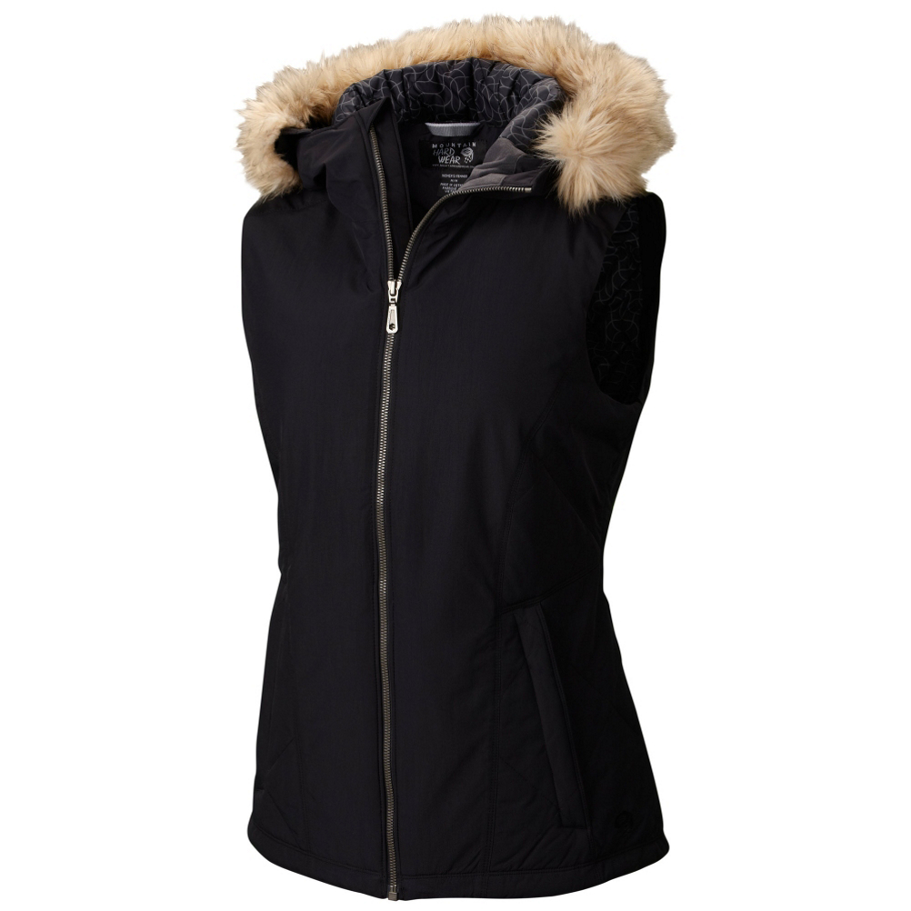 Mountain Hardwear Potrero Insulated Vest w/Faux Fur Womens Vest