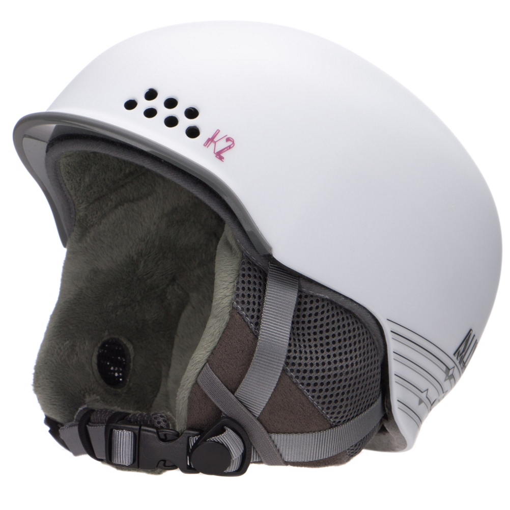 K2 Ally Womens Helmet: Save 30% Off - The K2 Ally is a simple helmet for ladies looking for a clean look.  This lightweight helmet has a removable and washable Full Wrap Liner that will keep this helmet fresh for seasons to come.  The Ally has the Passive Channel Ventilation System that has channels in the inside that direct air flow between your head and the helmet to expel moisture and heat to keep your temperature comfortable all day regardless of how hard you are working on the mountain.  The 360 K2Dialed Fit System is very easy to adjust to provide you with a comfortable and safe fit throughout the day.  If you are looking for a helmet that will not break the bank, but looks good, and comfortable the K2 Ally is the helmet for you.  Passive Channel Ventilation,  360 K2Dialed Fit System,  Washable Full Wrap Liner System,  394g,  Sm (51-55cm) Med (55-59cm),  Certifications: ASTM F 2040 EN1077, Warranty: One Year, Race: No, Category: Half Shell, Audio: Not Compatible, Brim/Visor: Yes, Ventilation: Fixed, Adjustability: Full, Year Round Capable: No, Shell Construction: In-Mold, Model Year: 2016, Product ID: 388254, Shipping Restriction: This item is not available for shipment outside of the United States., Model Number: S1408017012, GTIN: 0886745324201