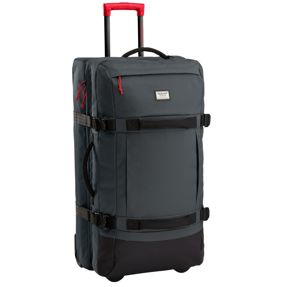 burton exodus roller bag 2017- Save 20% Off - The Burton Exodus Roller Bag is perfect for those extended trips to the mountains. Lightweight and ready to travel on the IXION wheel system that keeps the Exodus rolling fast and smooth across any surface. Internal mesh dividers to keep your clothes categorically separated. The lockable zipper pulls will meet all TSA-approved locks. ID Window lets all be known this is your Burton Exodus Roller Bag. All Burton bags are guaranteed for life and backed by a LIFETIME WARRANTY.  IXION Wheel System,  ID Window,  External Zippered Pockets,  Internal Mesh Dividers,  Lockable, Contoured Zipper Pulls Fits TSA Approved Locks,  All Burton bags are guaranteed for life and backed by a Lifetime Warranty,  Model Year: 2017, Product ID: 389202, Shipping Restriction: This item is not available for shipment outside of the United States., Model Number: 11603102870, GTIN: 0632059948806, Luggage Style: Wheeled Luggage, Gear Volume: 120L, Interior Mesh Pocket: Yes, ID Tag: Yes, Size Dimensions: 31x15.75x15in, Exterior Pockets: Yes, Weight of Bag: 7.2 lbs, Airplane Carry-On: No, Material: 600D Polyester, Warranty: Lifetime