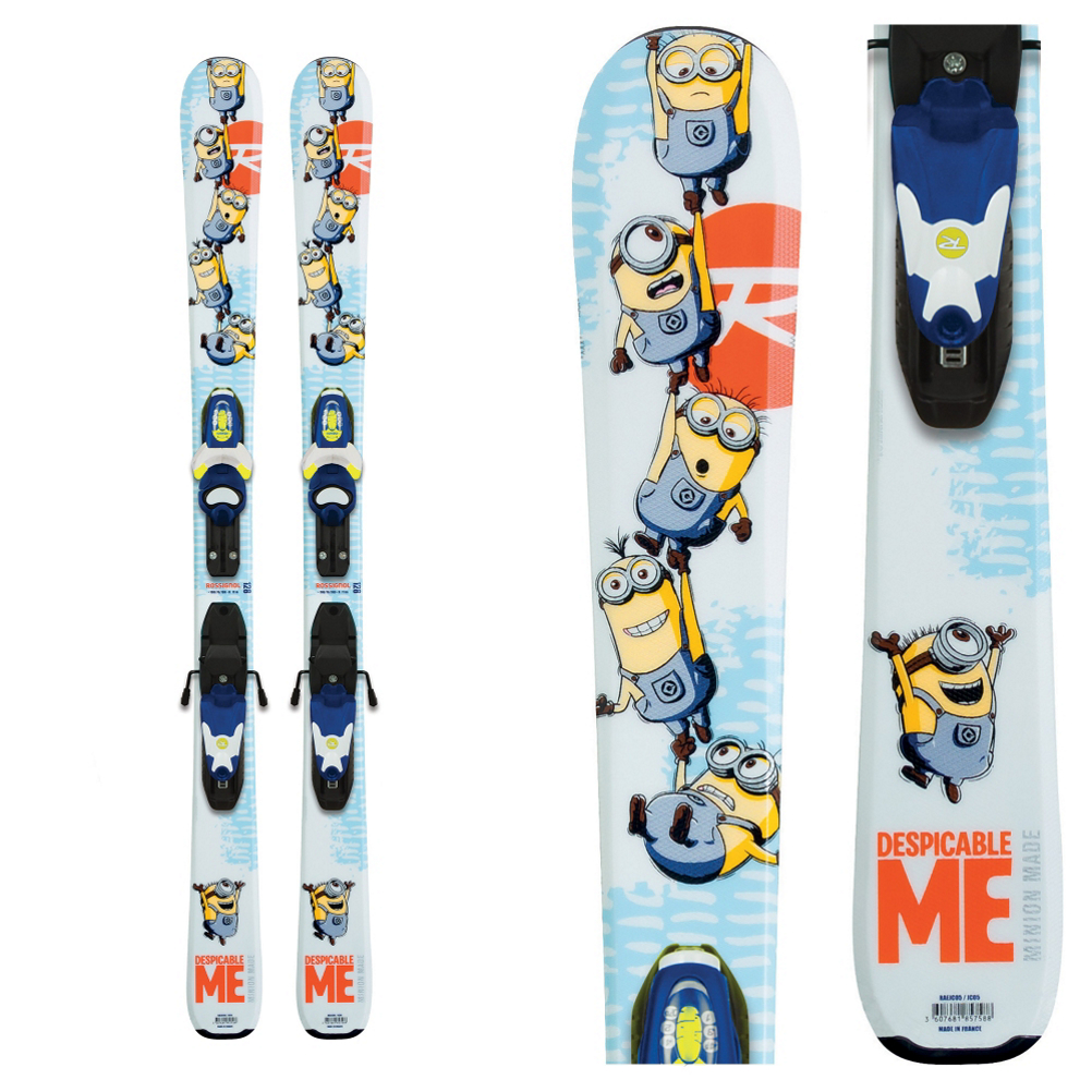 Product image of Rossignol Minions Kids Skis with Kid-X 45 Bindings 2016
