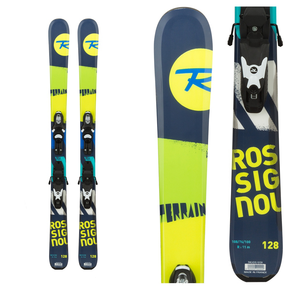 Rossignol Terrain Boy Kids Skis with Kid X 45 Bindings