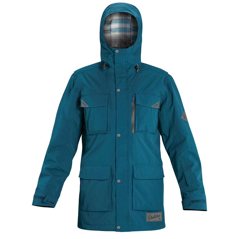 dakine mansfield mens shell ski jacket- Save 57% Off - Have the freedom of mobility and the opportunity to layer when you head out to the mountain wearing the Dakine Mansfield Shell Jacket. Perfect for protecting you against the elements while also giving you room to work with, the Dakine Mansfield may be the only jacket you need when the cold weather strikes. Its shell is built strong with a Full Dull Heavy Oxford with a 10k waterproof rating and fully taped seams to ensure that the wintry moisture doesn't find a way to seep in. It's also at 10k breathability so when you start sweating, that sticky air can escape instead of cooling you down. There's also handy-dandy pit zips to keep you feeling fresh on those spring ski sessions. There's lots of storage space too including a spot specifically for your smartphone. Get the sharp-looking shell jacket designed for the skier who wants to make up their own rules on the mountain - get the Dakine Mansfield Shell Jacket.  YKK Regular Zippers,  Two-Way Opening Center Front Zipper,  Pockets: Phone/Media Device, Sleeve Pass Pocket, Inner Storage and Inner Pass Pocket,  Inner Upper Storm Flap,  Chin Flap Zipper Cover,  Exterior Material: 2L Full Dull Heavy Oxford, Taped Seams: Fully Taped, Race: No, Type: Shell, Jacket Fit: Regular, Length: Thigh, Insulation Type: None (Shell), Waterproof: Mild Waterproofing (5,001 - 10,000mm), Model Year: 2015, Product ID: 391704, Model Number: 8700137 MOR M, GTIN: 0610934889239, How Does This Fit?: True To Size, Warmth Factor: No Insulation, Cinch Cord Bottom: No, Waterproof Zippers: No, Wrist Gaiter: No, Cuff Type: Hook and Loop, Breathability: Mild Breathability (5,001 - 10,000g), Battery Heated: No, Warranty: Lifetime, Powder Skirt: Yes, Pit Zip Venting: Yes, Hood Type: Fixed, Breathability Rating: 10,000g, Waterproof Rating: 10,000mm