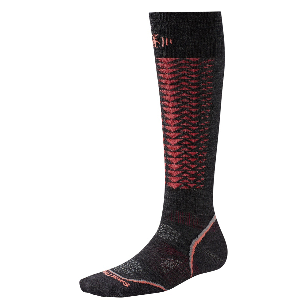 smartwool phd downhill racer womens ski socks- Save 39% Off - For that competitive spirit in you, don't even think about racing without wearing the SmartWool PhD Downhill Racer Ski Socks. Designed for downhill racing, the 4 Degree Elite Fit System uses two elastics for greater stretch and recovery to keep the sock in place. The ReliaWool Technology gives you longer lasting protection in the high impact areas, keeping your feet comfortable on those winter days. In addition to the protection, these socks are outfitted with mesh ventilation zones providing temperature and moisture control when needed most and the non-cushioned heel and toe allows for a high-performance boot fit. Take first with the SmartWool PhD Downhill Racer socks.  4 Degree Elite Fit System,  Patented ReliaWool Technology,  Strategically Placed Mesh Ventilation Zones,  Flat Knit Durable Toe Seam,  Light Cushion in the Shin,  Non-Cushioned Heel and Toe,  Warranty: Lifetime, Material: Wool/Synthetic Blend, Type: Ski, Weight: Mid, Model Year: 2016, Product ID: 395428, Model Number: SW247-003-S, GTIN: 0605284920909
