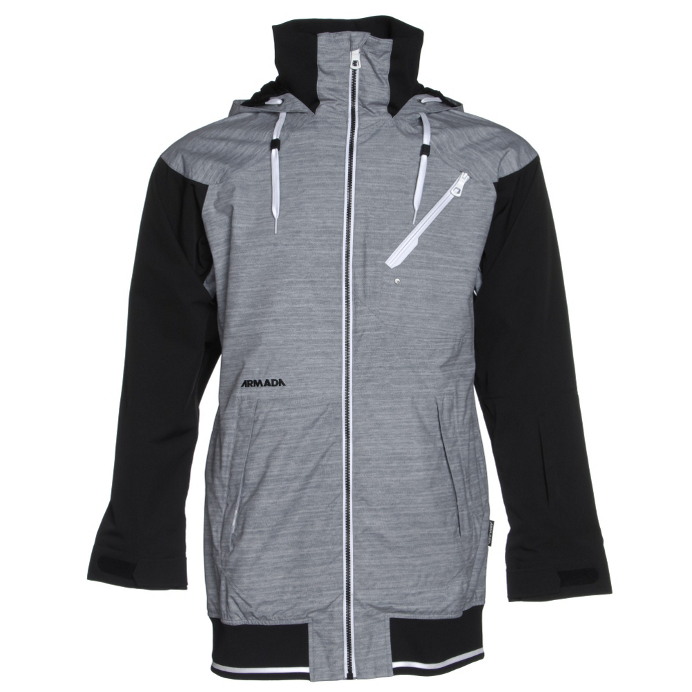 armada gypsum womens hoodie jacket- Save 52% Off - Looking for something completely different than all the other ski jackets out there?  Then look no further than the Armada Gypsum Jacket.  With a style that's reminiscent of a varsity jacket mixed with a zip up hoodie, this coat calls out your inner chicness like no other.  The team fit on this jacket means it's long and lean, giving you full butt coverage and style to boot.  And who doesn't love a mix of fabrics and a little leopard?  This jacket is a shell, so it's made to be layered underneath, and it will keep you warm and dry with a 10K rated waterproofing and breathability.  Every seam on this jacket is reinforced with and extra seam sealing for addition protecting from moisture entering.  And an adjustable as well as removable and stashable powder skirt with lycra suspension will keep out snow even if you happen to eat it on the hill.  But what about those deep powder days you say?  Well, this jacket has a jacket to pant snap interface so you can make the Gypsum jacket an instant one piece if need be.  Looking for amenities?  This jacket's certainly got them.  Adjustable cuffs and hems, a helmet compatible hood with a reinforced brim, a pass pocket on the sleeve for automated lift systems, no snag mesh lined pit vents, internal goggle pocket and lycra wrist gaiters are just a few to mention.  This jacket fashion and function all rolled into one.  Waterproof and breathable,  Mesh Lining,  RF pocket on sleeve,  Internal goggle pocket,  Diagonal zip pocket at left chest,  No-snag mesh-lined pit vents,  YKK zippers,  Helmet compatible hood,  Adjustable cuffs,  Fully sealed,  DWR coating,  Adjustable and stashable powder skirt with Lycra suspension,  Jacket-to-pant snap interface,  Semi fitted,  Exterior Material: Polyester, Taped Seams: Fully Taped, Waterproof Rating: 10,000mm, Breathability Rating: 10,000g, Hood Type: Fixed, Pit Zip Venting: Yes, Powder Skirt: Yes, Material: Nylon Micro Oxford, Warranty: One Year, Battery Heated: No, Race: No, Type: Casual, Jacket Fit: Regular, Length: Medium, Waterproof: Mild Waterproofing (5,001 - 10,000mm), Breathability: Mild Breathability (5,001 - 10,000g), Cuff Type: Hook and Loop, Wrist Gaiter: No, Waterproof Zippers: No, Closure Type: Full Zip Top, Wind Protection: No, Type: Hoodie, Material: Synthetic, Cinch Cord Bottom: No, Wicking Properties: No, Sleeve Type: Long Sleeve, Water Resistant: Yes, Warmth Factor: Warm, How Does This Fit?: True To Size, Model Year: 2016, Product ID: 402835, Model Number: 15WJA-GYP-HEA-SM, GTIN: 0847165062777