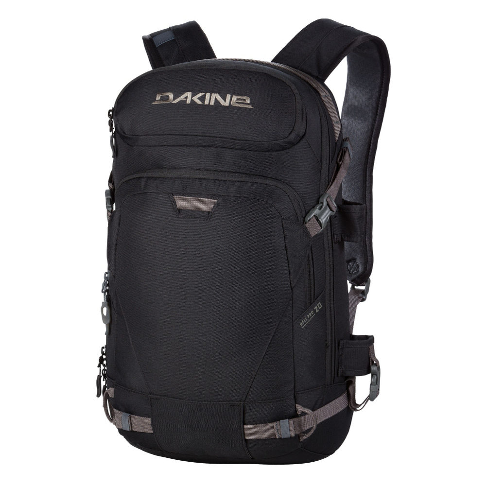 dakine heli pro 20l backpack- Save 39% Off - The Dakine Heli Pro 20L offers an ergonomic way to haul your gear for your next big mountain excursion. When it comes to finding that stash of untouched powder, you want the ease of carrying so you're not burned out before you even start. The Heli Pro 20L offers an easy snowboard or ski carry feature so you can stay focused on your adventure. There is a fleece-lined goggle pocket to keep a spare pair safe. You'll have an insulated hydro sleeve for easy access to water and a side water bottle pocket when you want to be near your next sip. The Padded Waist Belt and Sternum Strap keeps you locked in and comfortable ensuring that your backpack doesn't swing around when hiking. The 600D Polyester materials is tough and durable so you can head out to the backcountry knowing that your items are safe and secure. Make sure to bring along the Dakine Heli Pro 20L on your next backcountry excursion and travel with ease.  Fleece Lined Goggle Pocket,  Organized Front Pocket,  Rescue Whistle on Sternum Strap,  Limited Lifetime Warranty,  Goggle/Sunglasses Pocket: No, Ski/Snowboard Carry: Ski and Snowboard, Waist Strap: Yes, Hydration Compatible: Yes, Use: Snow, Material: 600D Polyester, Exterior Pockets: Yes, Padded Inside: None, Size Dimensions: 21in x 12in x 8in, Gear Volume: 20L, Laptop Sleeve: Yes, Laptop Size: 15in, Model Year: 2017, Product ID: 404606, Model Number: 10000223 BK, GTIN: 0610934968668, ID Tag: No, Weight of Bag: 1.8 lbs, Warranty: Limited Lifetime