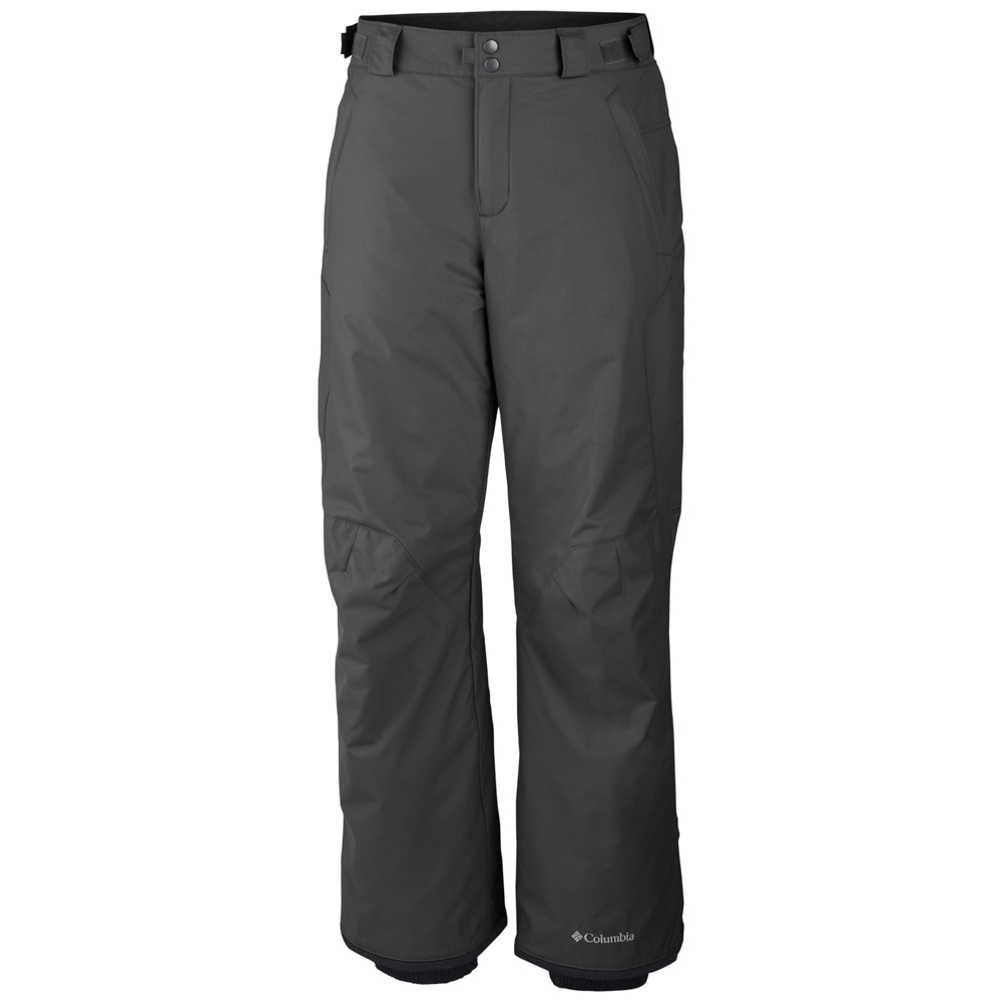 columbia bugaboo ii short mens ski pants- Save 26% Off - Columbia's Bugaboo II Pant creates a waterproof, insulated environment for long days out on the slopes. Constructed out of waterproof and breathable fabric with critically taped seams, these pants ensure you'll stay warm and dry out on the mountain. The adjustable waist along with internal adjustable leg gaiters allows you to customize these pants for the perfect fit.  Articulated knees offer incredible range of motion and multiple pockets offer easy grab and go storage for handwarmers and other small on slope necessities.  Omni-Tech Waterproof Breathable,  Adjustable Waist Tabs,  Internal Adjustable Leg Gaiter,  Exterior Adjustable Waist,  Reinforced Cuff Guard,  Articulated Knee,  Model Year: 2017, Product ID: 409858, Model Number: 1481851053 SS, GTIN: 0887253752111, How Does This Fit?: True To Size, Warmth Factor: Warmer, Waist: Adjustable, Lining Material: 100% Polyester Tricot, Pant Fit: Regular, Type: Insulated, Breathability: Mild Breathability (5,001 - 10,000g), Waterproof: Mild Waterproofing (5,001 - 10,000mm), Race: No, Warranty: Other, Articulated Knee: Yes, Suspenders: None, Thigh Zip Venting: No, Full Zip Sides: No, Breathability Rating: 10,000g, Waterproof Rating: 10,000mm, Taped Seams: Critically Taped, Insulation Weight: 60g, Exterior Material: 100% Nylon Legacy Twill, 100% Polyester