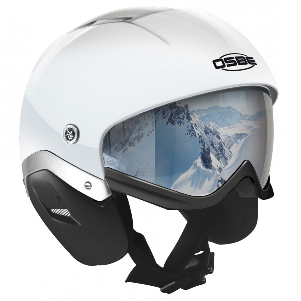 osbe majic ski helmet- Save 38% Off - The Osbe Majic Ski Helmet is the perfect helmet that is integrated with a built in visor ready to give you one unique experience in a lightweight design. The Majic Ski Helmet is made of Carbon Composite Fiber and offers multi-impact protection and ultra-resistant paint. The Snow Majic is also made with DAF (Direct Air Flux) Ventilation that allows cool air to enter the helmet and exit the helmet to keep your temperature regulated and comfortable at all times on the slopes. The visor is retractable up into the helmet that has a foam trim along the bottom to keep you comfortable and protected. The visor is also coated with anti-scratch and anti-fog coating. The inner liner is removable and washable so your helmet will always have a fresh feeling. Osbe's Micrometric Buckle is very easy for you to open, close, and adjust on the fly. The Osbe Majic Ski is a great helmet if you are looking for a unique look and a seamless integration between the helmet and visor.  Multi-Impact Shell in Carbon Composite Fiber,  Ultra-Resistant Painting,  Removable and Washable Inner Lining,  Magnetic Buckle for Quick and Easy Chinstrap Release,  Direct Air Flux Ventilation System,  Helmet Bag and Hard Box Included,  Model Year: 2016, Product ID: 410468, Model Number: 37616000391-3, Shell Construction: In-Mold, Year Round Capable: No, Adjustability: None, Ventilation: Fixed, Brim/Visor: No, Audio: Audio Compatible, Category: Half Shell, Race: No, Warranty: One Year, Certifications: EN 1077-2007, UNI EN 174-2004