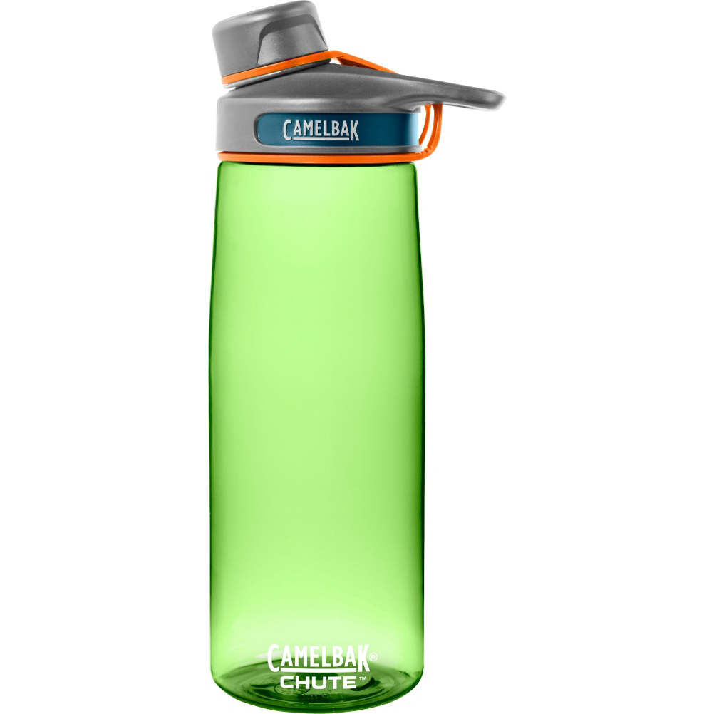 camelbak chute .75l water bottle- Save 7.% Off - The Camelbak Chute .75L Bottle is the perfect day traveler. It's small enough to fit comfortable in a bag or purse, and offers a high flow cap for easy drinking and refill. The half-turn cap stows into the lid for easy one handed drinking and screws on easily. It's made with BPA Free, highly durable Titan plastic for leak proof protection and a rugged use. Take the Chute bottle anywhere with you and stay hydrated throughout the day.  Leak Proof,  Ergonomic High Flow Spout,  Cap Stows in Handle,  Two Finger Carry Handle,  Half Turn Spout Cap,  Top Rack Dishwasher Safe,  Material: Plastic, Bottle Opening: Wide, Bottle Cap: Flip Top, Capacity: 24-28 oz, Actual Capacity: 24oz, Dimensions: Not Specified, Material: BPA Free Titan, BPA Free: Yes, Weight: Not Specified, Model Year: 2016, Product ID: 415753, Model Number: 53540, GTIN: 0886798535401