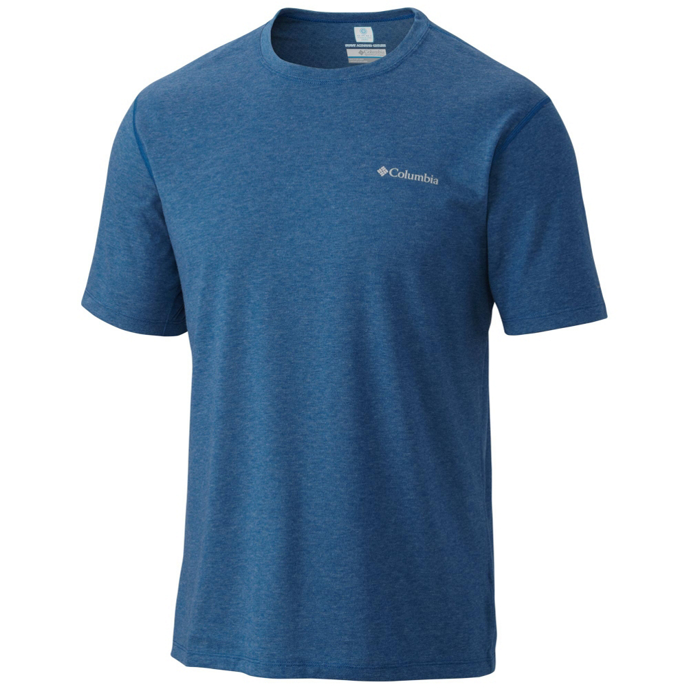 columbia silver ridge zero mens mens t-shirt- Save 25% Off - The sweat activated super cooling technology is what sets the Columbia Silver Ridge Zero t-shirt apart from the rest. It works to keep you cool the more you sweat so you can enjoy your hike from start to finish and because the shirt wicks moisture too, you'll always stay comfortable and dry.  Omni-FREEZE ZERO - Sweat Activated Super Cooling,  Omni-WICK,  Material: 80% Polyester, 20% Cotton, Warranty: One Year, Battery Heated: No, Closure Type: Pull Over, Wind Protection: No, Type: T-Shirt, Material: Cotton/Synthetic Blend, Wicking Properties: Yes, Sleeve Type: Short Sleeve, Water Resistant: No, Recommended Use: Hiking/Camping, Sun Protection: , Moisture Wicking: Yes, Model Year: 2017, Product ID: 416498, Model Number: 1654361448 M, GTIN: 0888665153954