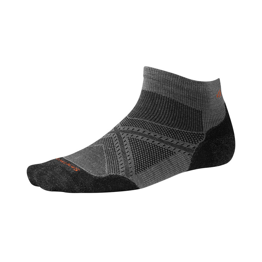 smartwool phd run light elite low socks- Save 33% Off - Featuring Light Elite cushioning, these socks are a runners dream! Smartwool knows how to craft some serious socks and the PhD Run Light Elite Low is no exception. Targeted cushioning where runners need it most - on the ball and heel of the foot. They also feature the 4 Degree Elite Fit System which consists of two elastics for greater stretch and recovery to ensure your socks stay in place and specific mesh ventilation zones for additional breathability and moisture management. This low cut sock is also made of 50% Merino wool so it's naturally anti-microbial and moisture wicking.  4 Degree Elite Fit System,  Men's Specific Mesh Ventilation Zones,  ReliaWool Technology,  Virtually Seamless Toe,  200 Needle Construction for Lightweight, High-Density Cushioning,  50% Merino Wool / 47% Nylon / 3% Elastane,  2.25in Low Cut Height,  Knit in USA,  Warranty: Lifetime, Material: Wool/Synthetic Blend, Type: Running, Weight: Light, Model Year: 2016, Product ID: 420524, Model Number: SW243-018-M, GTIN: 0605284897669