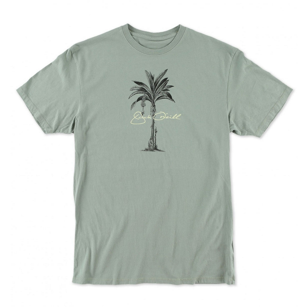 o'neill perennial mens t-shirt- Save 50% Off - The O'Neill Perennial Tee Shirt for Men features an island palm tree screen-print design, the feel is soft to the touch within a lightweight cotton jersey fabric.  The material combination brings on total comfort, softness against your core and a premium/relaxed fit.  Easy to wear and light on the body, The Perennial Crew Tee Shirt is the ideal choice for the ultimate laid-back feel, along with the front side subtle palm tree design, this is your gotta-have, looking-good tee shirt - you will stay comfortable and blend-in for any casual outing.  Premium Fit,  100% Cotton,  Softhand screenprint,  Closure Type: Pull Over, Type: T-Shirt, Material: Cotton, Recommended Use: Casual, Model Year: 2016, Product ID: 420856, Shipping Restriction: This item is not available for shipment outside of the United States., Model Number: SP64718110 ARM M, GTIN: 0889667047371, Water Resistant: No, Material: 100% Cotton