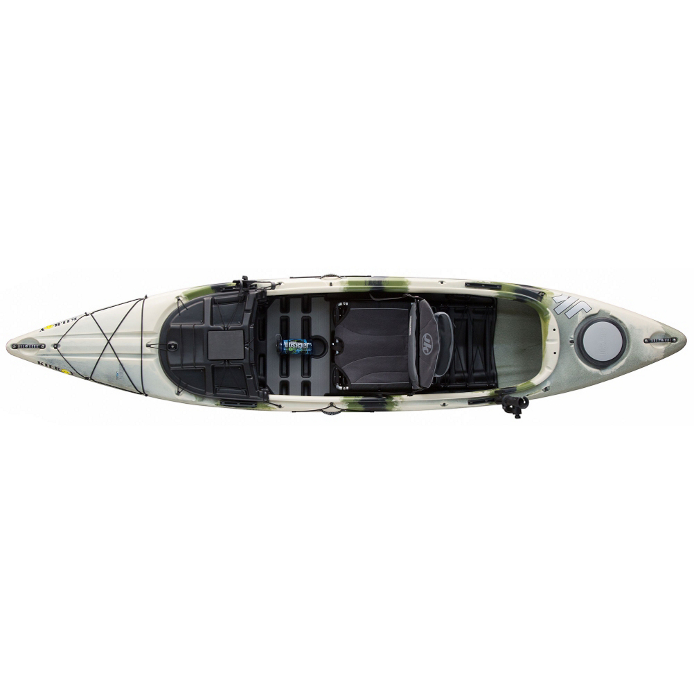 jackson kayak kilroy fishing kayak- Save 19% Off - The sit-inside Kilroy fishing kayak includes many features like Hi/Lo seating in the Elite Seat 2.0, the same fast hull design as the Cuda 12, tons of storage space to protect your fishing and hunting gear and accessories. Also includes rod storage along the side walls of the kayak, hard and soft deck options that are easily interchangeable, and tons of accessory mounts in different locations all over the craft. The Kilroy is one of Jackson's most stable stand-up fishing kayaks due to the standing area being below the water.  This boat is the perfect companion for the nature enthusiast.  Length: 12ft 4in,  Tech Decks,  SOT deck features on hull,  Increased standability,  Yakattack Gear Tracks,  RAM Rod Holders,  SeaLine removable seat pouch,  Therm-A-Rest lumbar support,  Includes 1 JK Plano 3640 Box,  Includes 32oz wide mouth Nalgene,  Kayak glove box,  Foam patch for staging flies, lures or hooks,  Drain holes at rim of cockpit to easily drain water out of the boat,  Elite Seat 2.0,  Hull storage,  Heavy duty seat attachment buckle,  Paddle stager,  Removable skid plate,  Flat storage area,  Model Number: KIL121FOREST_16, Shipping Note: Jackson Kayaks are not eligible for free shipping. Jackson Kayaks have a minimum freight charge of $69., Shipping Note: Jackson Kayaks boats are not eligible for free shipping, and have a minimum freight charge of $99., Shipping Location Note: This item is available for shipment by freight to the lower 48 United States.  It cannot be shipped to APO, FPO, PO BOX, Hawaii, or Alaska., Product ID: 424504, Model Year: 2016, Rudder: Rudder (not available), Adjustable Seat: Yes, Seat: The Elite Seat 2.0, Deck Rigging: Bow, Hatches: Stern, Bulk Heads: Stern, Weight Capacity: 375lbs, Number of Paddlers: 1, Material: Linear Poly, Weight: 66lbs. (72lbs w/seat), Kayak Width: 31in., Length: 12ft. 4in., Hull Design: Open CockPit, Type: Fishing